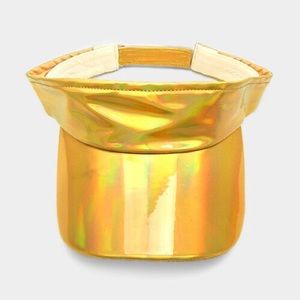 Hologram Adjustable Fashion Visor...Color: Gold